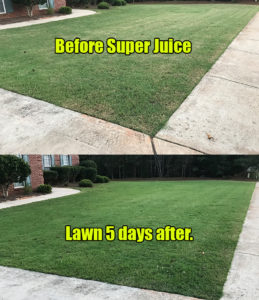 Super Juice lawn fertilizer