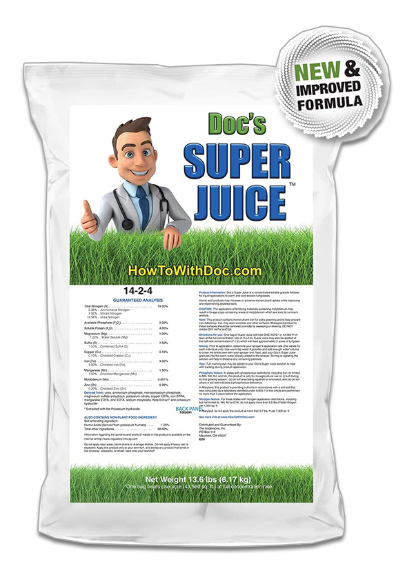 super juice lawn spray
